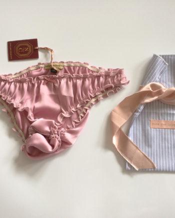 culotte soie rose